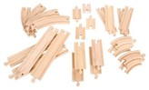 Bigjigs Rail Curves & Straights Expansion Pack Wooden Railway Train Track