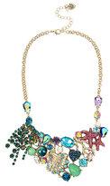Betsey Johnson Glitter Reef Cluster Bib Necklace