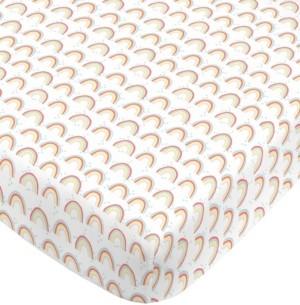 NoJo Rainbow Print Mini Crib Sheet Bedding