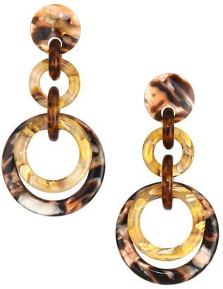 Lele Sadoughi Loop-De-Loop Triple Hoop Earrings
