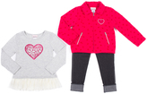 Little Lass Raspberry Heart Jacket Set - Infant