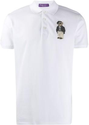Ralph Lauren Purple Label Embroidered Polo Shirt