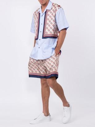 Gucci Interlocking Gg Motif Ivory Shorts
