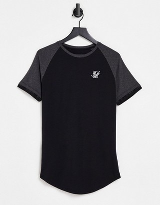SikSilk advanced tech t-shirt in black and gray