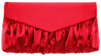 Nina Satin Pleated Clutch