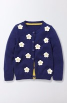 Toddler Girl's Mini Boden Floral Cardigan