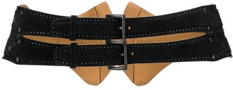 Alaïa Pre Owned 1990s Double Buckled Belt