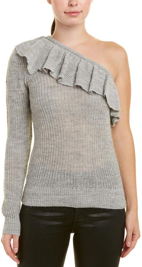 One-Shoulder Alpaca & Wool-Blend Sweater