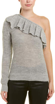 Rebecca Taylor One-Shoulder Alpaca & Wool-Blend Sweater