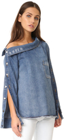 Robert Rodriguez Denim One Shoulder Top