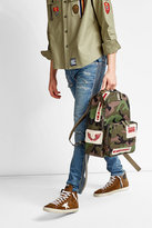 Valentino Camouflage Print Backpack with Rockstuds