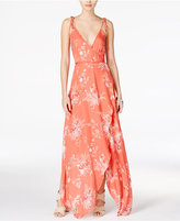 MinkPink Hot Springs Printed Wrap Maxi Dress