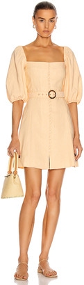 Jonathan Simkhai Emery Belted Mini Dress in Apricot | FWRD