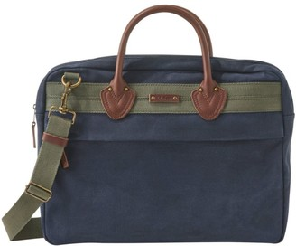 L.L. Bean Waxed Canvas Briefcase