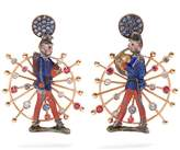 Francesca Villa Rose-gold, sapphire toy soldier earrings
