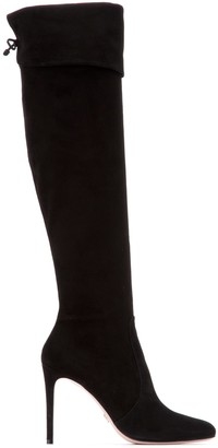 Prada Read Lace-Up Stiletto Boots