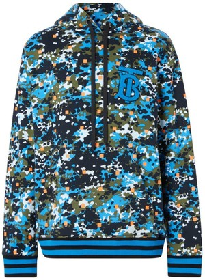 Burberry Coldan TB Paint-Splatter Cotton Hoodie