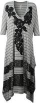 Antonio Marras striped asymmetric dress - women - Polyester/Spandex/Elastane/Viscose - 40