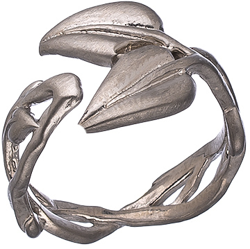 Agrigento Designs Double Leaf Open Ring