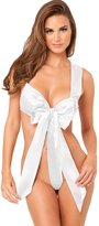 Rene Rofe Women's Unwrap Me Satin Bow Teddy