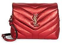Saint Laurent Women's Toy Loulou Matelassé Metallic Leather Crossbody Bag