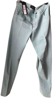 Kiton Turquoise Denim - Jeans Trousers