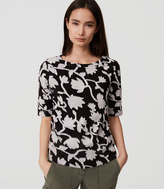 LOFT Textured Tulip Top