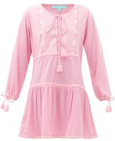 Melissa Odabash Millie Lace-up Embroidered Cotton Kaftan - Womens - Pink