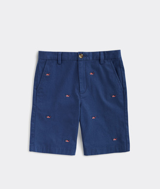 Vineyard Vines Boys' USA Whale Embroidered Breaker Shorts