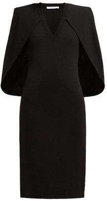 Givenchy Cape Stretch-knit Midi Dress - Womens - Black