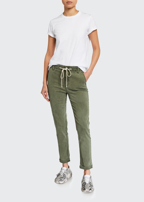 Paige Cuffed Drawstring Ankle Pants