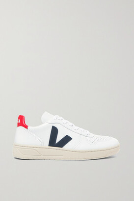 Veja + Net Sustain V-10 Leather Sneakers - White