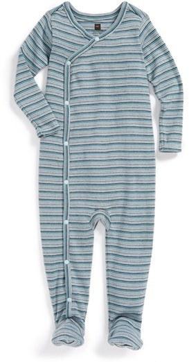Tea Collection 'Argan Stripe' Cotton One-Piece (Baby Boys)