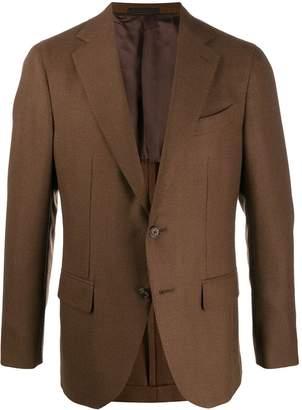 Caruso button fitted blazer