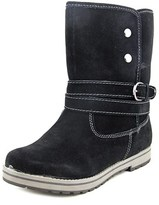 White Mountain Powder Women Round Toe Suede Black Winter Boot.