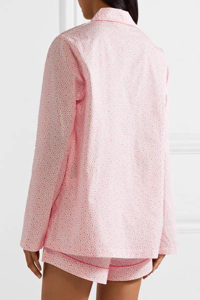 Three J NYC Josephine Printed Cotton-poplin Pajama Set - Coral