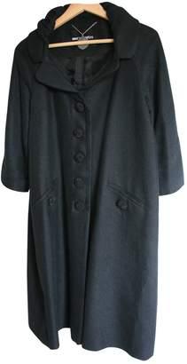 American Retro Black Linen Coat for Women