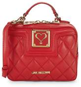 Love Moschino Women's Quilted Mini Top Handle Bag