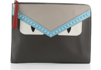 Fendi Monster Clutch Leather Medium