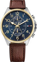 Tommy Hilfiger 1791275 leather and stainless steel watch