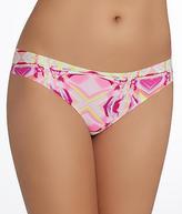 2xist Microfiber Laser Cut Thong Panty - Women's