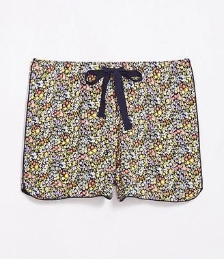 LOFT Petite Floral Pajama Shorts