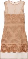 Stella McCartney Layered embroidered silk-organza mini dress