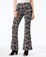 Material Girl Juniors' Bandana-Print Flare-Leg Pants, Only at Macy's