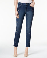 Style&Co. Style & Co. Petite Embroidered Hurricane Wash Ankle Jeans, Only at Macy's