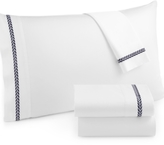 Westport CLOSEOUT! Leaf Embroidery King 4-pc Sheet Set, 300 Thread Count 100% Cotton