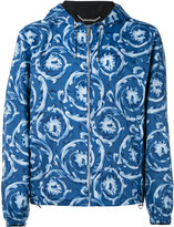 Versace printed hooded jacket - men - Cotton/Polyester - 48