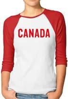 Sofia Women's Canadian Team Canada Equipe Canada 3/4 Sleeve Baseball Tee Shirt L (2 Colors)