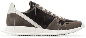 Rick Owens black Scarpe Runner suede trim leather sneakers