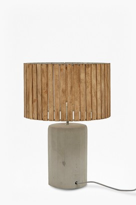 French Connection Wooden Slats Table Lamp